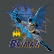 Batman T-Shirt - Cape Outstretched Adult Charcoal Tee