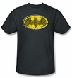 Batman T-Shirt - Celtic Shield Adult Charcoal Gray Tee