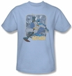 Batman T-Shirt - Come Climb With Me Adult Light Blue Tee