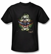 Batman T-Shirt - Crazy Lips Adult Black