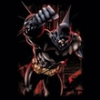Batman T-Shirt - Crimson Knight Adult Charcoal Tee