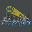 Batman T-Shirt - Gotham City Distressed Adult Charcoal Tee