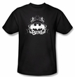Batman T-Shirt - Grim and Gritty Adult Black Tee