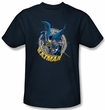 Batman T-Shirt - In The Crosshairs Adult Navy Tee