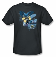 Batman T-Shirt - In To Night Adult Charcoal Tee