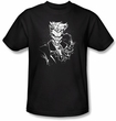 Batman T-Shirt - Joker's Splatter Smile Adult Black Tee