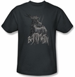 Batman T-Shirt - Scary Right Hand Adult Charcoal Tee