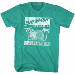 Baywatch Shirt Baywatch California Teal Green T-Shirt