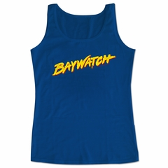 Baywatch Shirt Tank Top Logo Royal Blue Tanktop