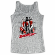 Baywatch Shirt Tank Top Red Accents Athletic Heather Tanktop