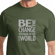 Be The Change Mens Shirts