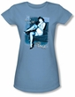 Betty Bettie Page Juniors Shirt Get A Leg Up Carolina Blue T-shirt