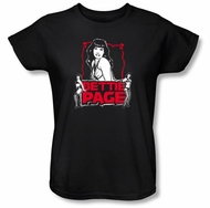 Betty Bettie Page Ladies Shirt Bettie Scary Hot Black T-shirt