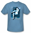 Betty Bettie Page Shirt Get A Leg Up Carolina Blue T-shirt