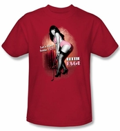 Betty Bettie Page Shirt Lets Have Some Fun Red T-shirt
