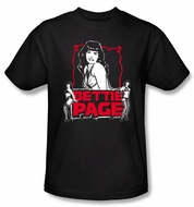 Betty Bettie Page Shirt Scary Hot Black T-shirt