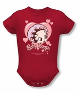 Betty Boop Baby Romper Infant Creeper Baby Heart Red