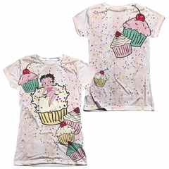 Betty Boop Cake Boop Sublimation Juniors Shirt Front/Back Print