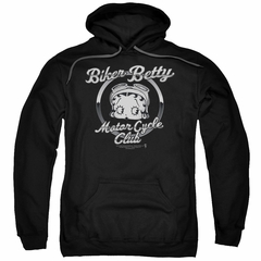 Betty Boop Hoodie Chromed Logo Black Sweatshirt Hoody
