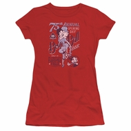Betty Boop Juniors Shirt Boop Ball Red T-Shirt