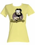 Betty Boop Juniors T-shirt Betty Circle Banana Tee Shirt