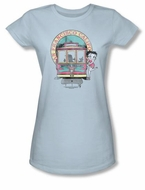 Betty Boop Juniors T-shirt Betty's Trolley Light Blue Tee