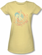 Betty Boop Juniors T-shirt Classy Dame Banana Tee Shirt