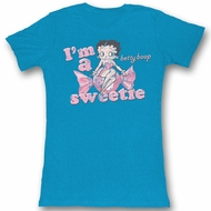 Betty Boop Juniors T-shirt Like Candy Blue Tee Shirt