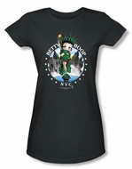 Betty Boop Juniors T-shirt NYC Black Tee