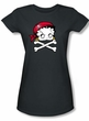 Betty Boop Juniors T-shirt Pirate Black Tee