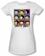 Betty Boop Juniors T-shirt Shes Got The Look White Tee