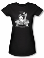Betty Boop Juniors T-shirt Street Angel Black Tee