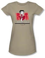 Betty Boop Juniors T-shirt Timeless Beauty Safari Green Tee