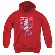 Betty Boop Kids Hoodie Boop Ball Red Youth Hoody