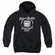 Betty Boop Kids Hoodie Chromed Logo Black Youth Hoody