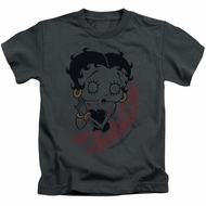 Betty Boop Kids Shirt Classic Zombie Charcoal T-Shirt