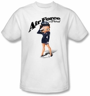 Betty Boop Kids T-shirt Air Force Boop Youth White Tee Shirt