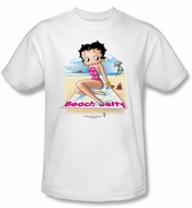 Betty Boop Kids T-shirt Beach Betty Youth White Tee Shirt