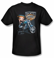 Betty Boop Kids T-shirt Boop Choppers Youth Black Tee Shirt
