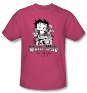 Betty Boop Kids T-shirt Born Wild Youth Hot Pink Tee Shirt