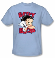 Betty Boop Kids T-shirt Forever Friends Youth Light Blue Tee Shirt