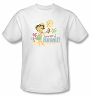 Betty Boop Kids T-shirt Hot In Hawaii Youth White Tee Shirt