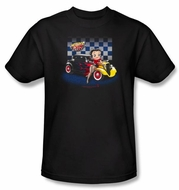 Betty Boop Kids T-shirt Hot Rod Boop Youth Black Tee Shirt