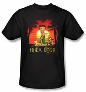 Betty Boop Kids T-shirt Hula Boop Youth Black Tee Shirt