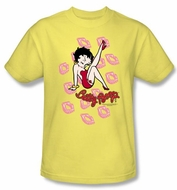 Betty Boop Kids T-shirt Kisses Youth Banana Tee Shirt
