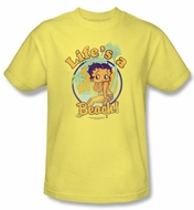 Betty Boop Kids T-shirt Life's A Beach Youth Banana Tee Shirt