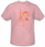 Betty Boop Kids T-shirt Oui Oui Youth Pink Tee Shirt