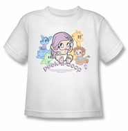 Betty Boop Kids T-shirt Peek A Boo Youth White Tee Shirt