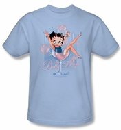 Betty Boop Kids T-shirt Pink Champagne Youth Light Blue Tee Shirt