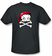 Betty Boop Kids T-shirt Pirate Youth Black Tee Shirt